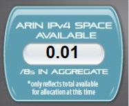 ARIN-IPV4 counter